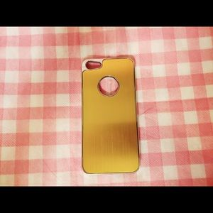 Accessories - Gold Metal Style Chrome covered iphone 5 Case